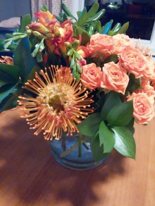 vibrant orange blooms