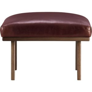cb cavett leather ottoman