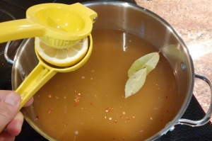 broth with fresh lemons