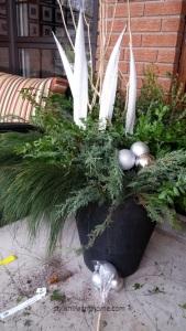 adding white to outdoor arrangement