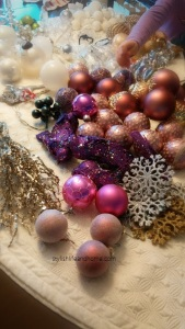 collection of pink and fushia tree ornaments