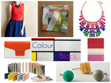 modern colour block collage