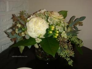 white flower arrangement contemporary