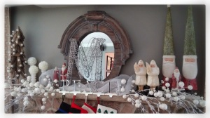 winter white contemporary christmas mantlescape