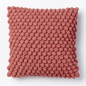 bubble knit pillow rose bizque west elm