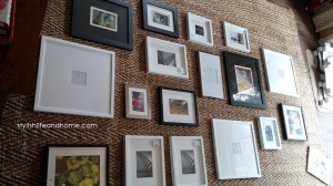 gallery wall planning contemporary