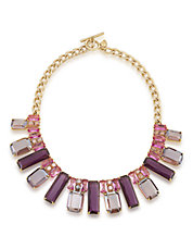 hudsons bay modern rose frontal collar necklace