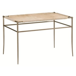 Modern Artisans by Schnadig stiches bench with metal legs stoney creek