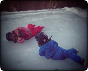 modern kid photography skating lessons homemade ice rink