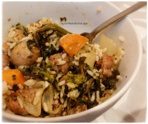 roasted sausage onion pepper fennel bowl