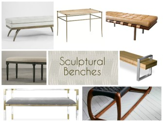 SCULPTURAL benches collage stylish contemporary furniture