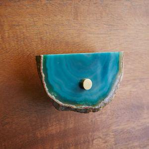 west elm agate cabinet handle set green
