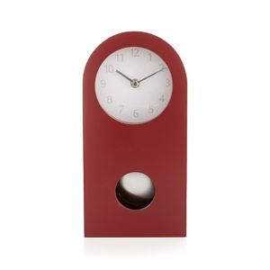 crimson-mantle-clock crate and barrel stylish accessories contemporary