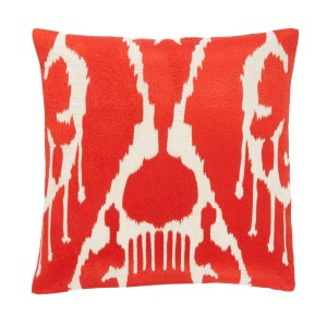 DwellStudio-Petra-Rouge-Pillow stylish contemporary red vanentines day
