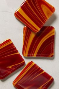 marbled glass coasters anthropologie decorating glamorous stylish contemporary