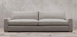 maxwell sofa linen grey modern farmhouse restoration hardware