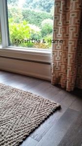 neutral decor stylish contemporary modern farmhouse orange accents