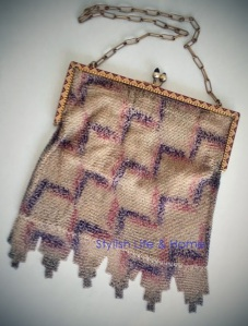 vintage purse accessories gold purple marsala mixed metals3