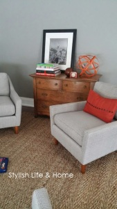 west elm chairs neutral decor stylish contemporary modern farmhouse orange accents
