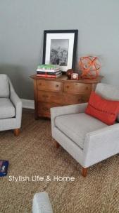 west elm chairs neutral decor stylish contemporary modern farmhouse orange accents