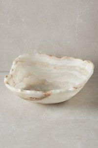 anthropologie raw edged onyx bowl