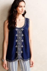 chandani  embroidered tank anthropologie