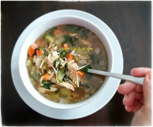 chicken and rapini soup in beef broth with ginger homemade recipes healthy eating