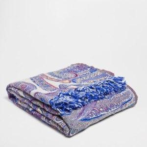 fuchsia paisley blanket zara home