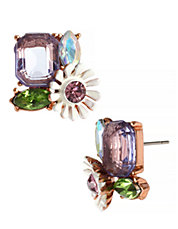 betsy johnson spring fling metal stud earring hudsons bay accessories jewelry floral
