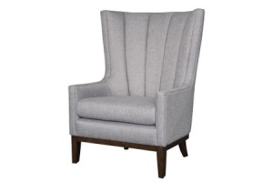 channelled wing chair deco inspired furniture stylish house and home decor