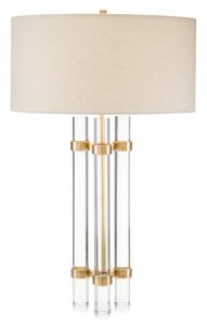 deco inspired table lamp glass brass stylish home decor accessories