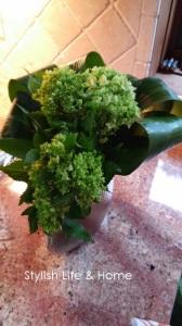 green hydrangea in contemporary flower arrangement2