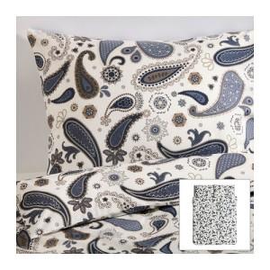 sotblomster-duvet-cover-and-pillowcase-s-white__ikea sheet set paisley print trends