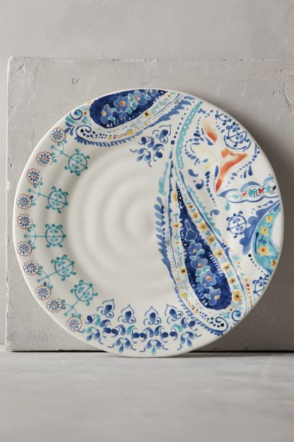 swirled symmetry dinnerware anthropologie & 7 ways with Paisley Prints u2013 Stylish Life u0026 Home